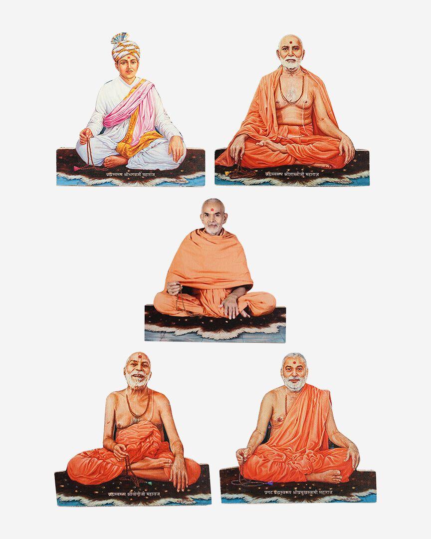 "Guruparampara (Guru lineage) Cutout Murti (Image) -  6"" x 8"""