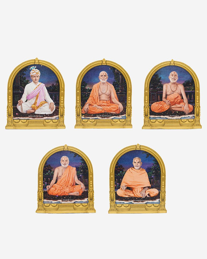 "Zarukha Guruparampara (Guru lineage) Cutout Murti (Image) -  6"" x 8"""